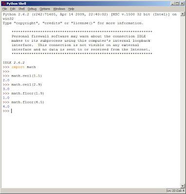 Johan Louwers Tech Blog Python Math Ceil And Math Floor
