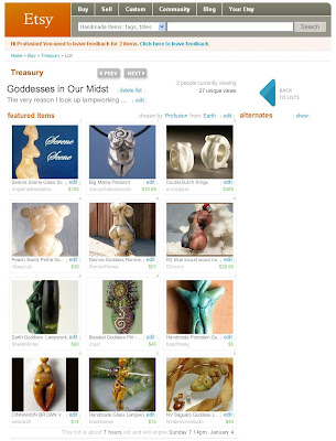 Etsy Treasury - Lampwork Goddesses