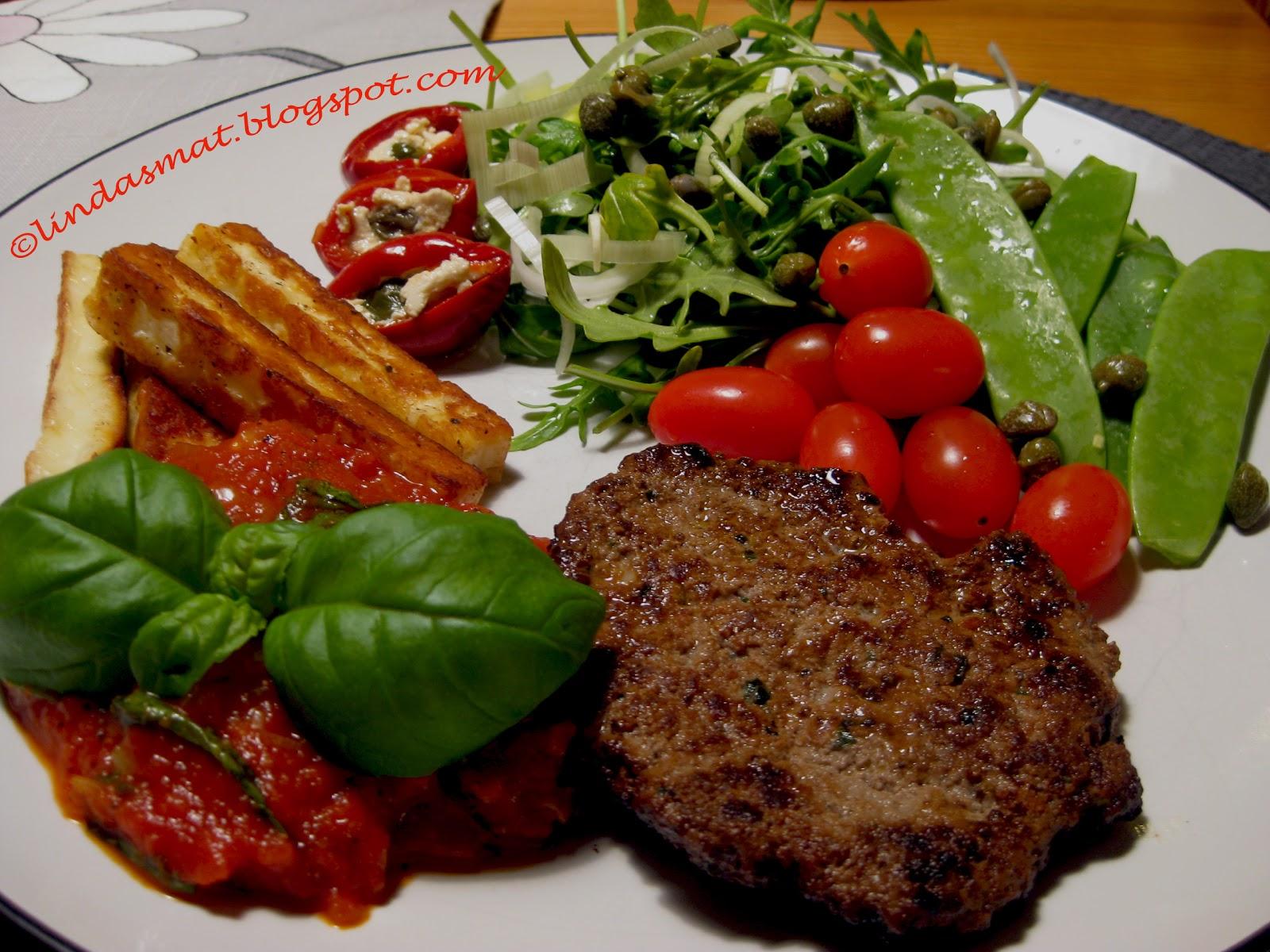 italienska köttfärsbiffar i tomatsås