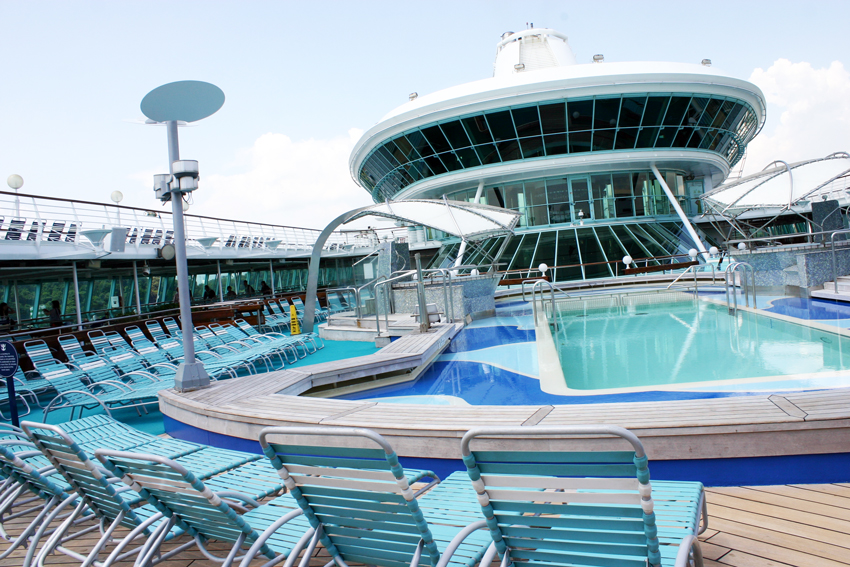 Little happy ideas cruise the royal caribbean way for Indoor pool with retractable roof