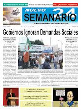 NUEVO SEMANARIO 24, NÚMERO 86
