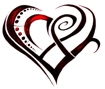 Heart Art Designs for Tattoos Popular among both men and women, Tribal Heart