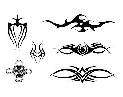 tribal band tattoo. armband tattoo designs.