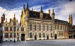 La plaza Burg de Brujas