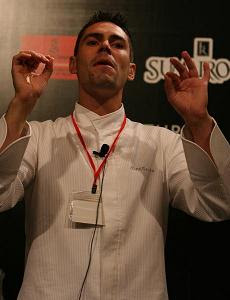 Alex Gares - Lasarte Head Chef and a man who knows how to conduct an orchestra