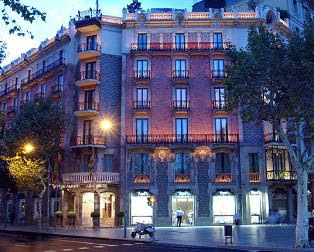 Hotel Condes on La Passeig de Grcia in Eixample