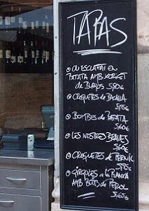 A typical tapas bar in Barcelona's Barri Gtic