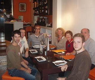 With my friends and family at Cata 1.81 on Carrer de Valencia