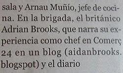 """Pau Arenós calls me """"a soul with soul"""" in El Periódico de Calalunya"""