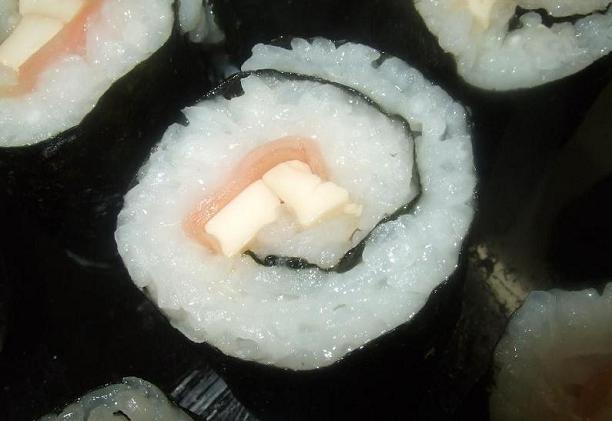 Tofu makizushi, ready to eat