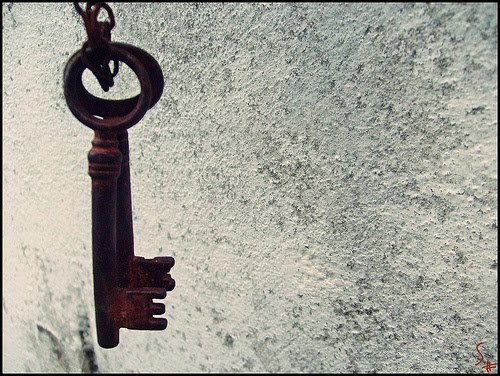 Una llave oxidada , la llave de mi corazón.