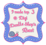 Jeg kom på topp tre hos Doodele shop