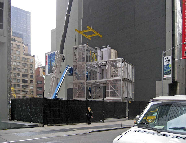 MoMA Post-Fab - Uninstalling part of the `Home Delivery` pre-fab show at the Museum of Modern Art two years ago.