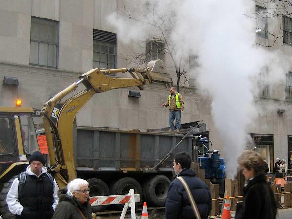 Happy Ditch Diggers - Outside Rockefeller Center.