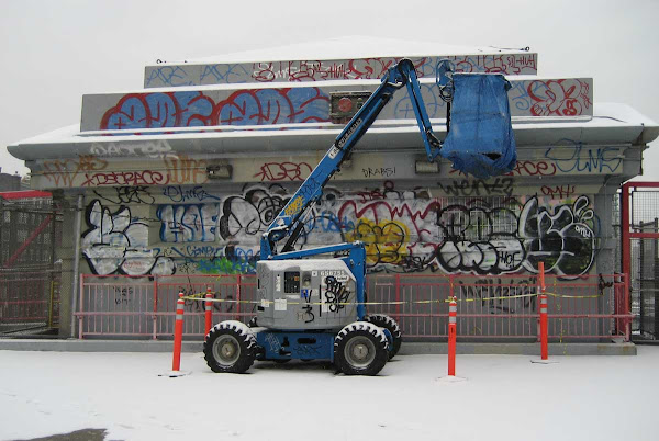 Snow Hut - On the Williamsburg Bridge.