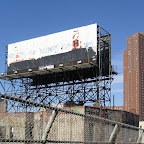 Zen Billboard - It said 'What does the billboard say?' From the Chinatown end of the Manhattan Bridge.