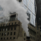 Hearst HQ 1 - Steam rising in front of Hearst HQ at 8th Ave. & 57th St.