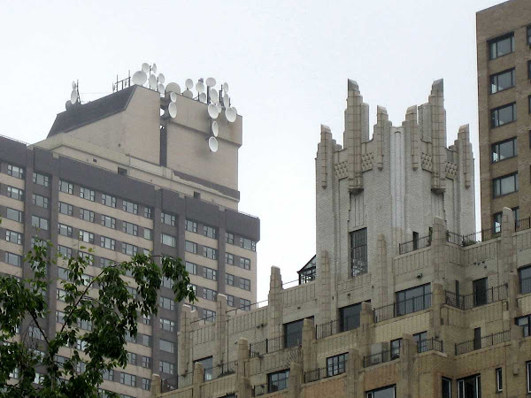 Electronic Mushrooms - Top left, from near the southwest corner of Central Park.