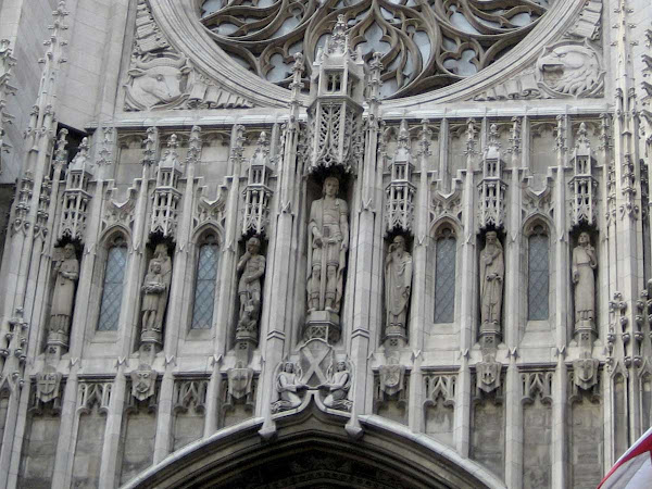 St. Thomas Church Statues - Above the entrance on 5th Ave.