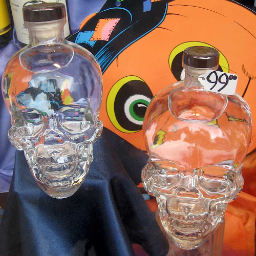 Booze Skulls - They'll still be laughing long after you drink them, at Crossroads Liquors on 14th St.