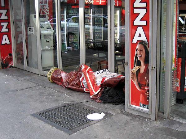 Sick Transit - A morning-after Bud bottle on 33rd St. near Penn Station.