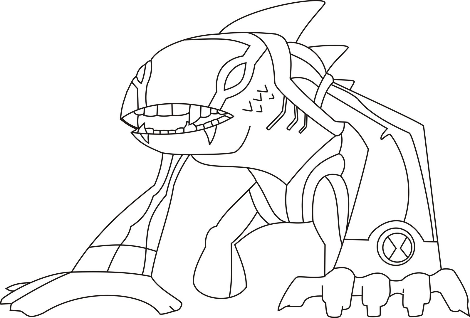 Ben 10 Alien Force Coloring Pages To Print Crokky Coloring Pages