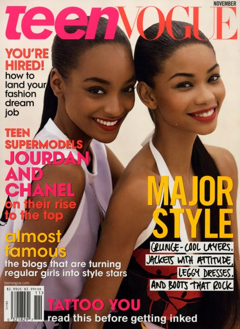 Jourdan Dunn Chanel Iman Teen Vogue November 2009 cover and even got to enjoy a blowjob on the cab!!!! BLOW ME