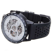 DayBird Stainless Steel SelfWinding Mechanical WristwatchBlack + White
