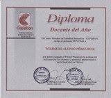 """Diploma de Cepeban - """"Docente del Año"""" - 2006."""