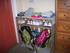 Built a shelf  bags/shoes/clothes