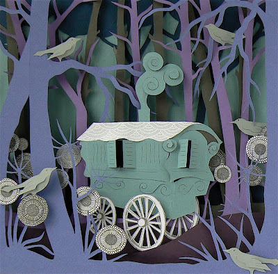 gypsy caravan by helen musselwhite