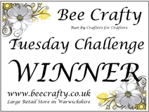I won at Bee Crafty Tuesday Challenge