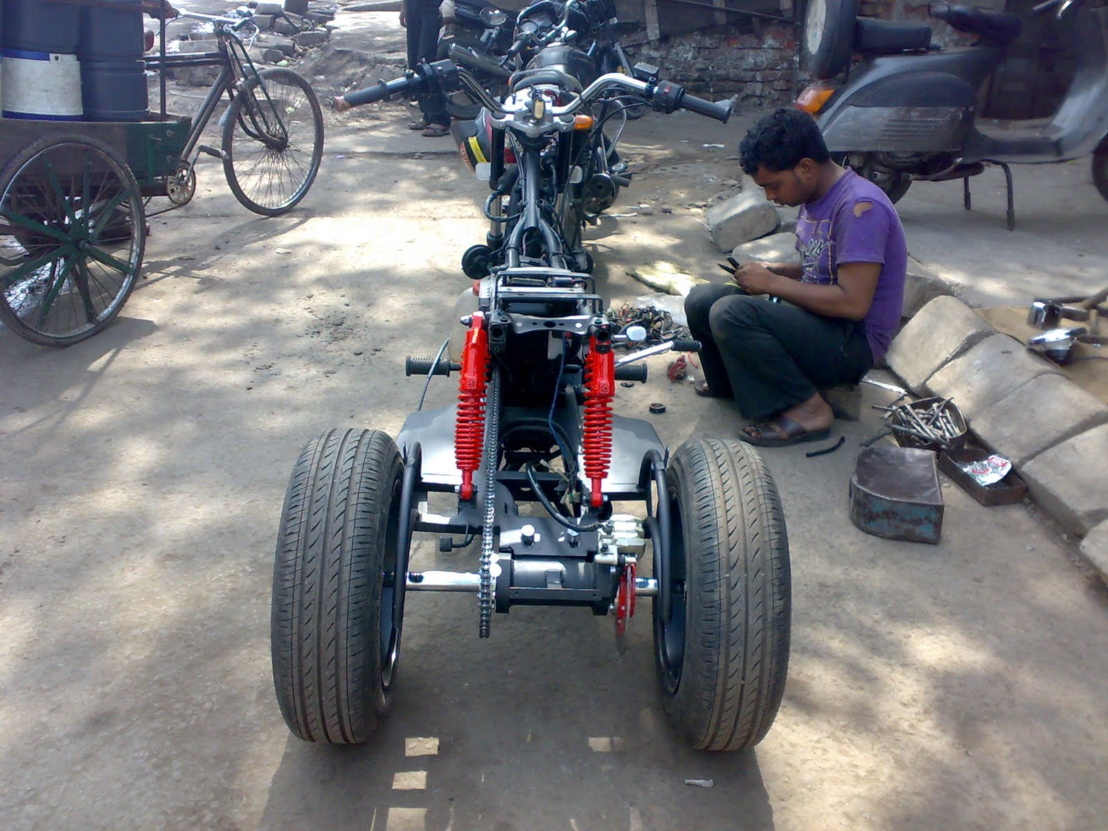 Bike Modifications In India Pulsar Trike For Physically Challenged