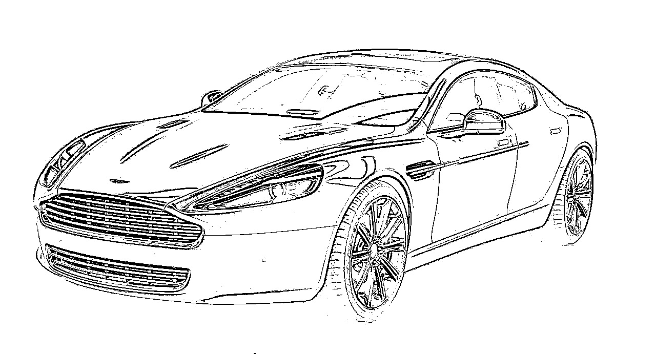 coloring pages of aston martins - photo#28