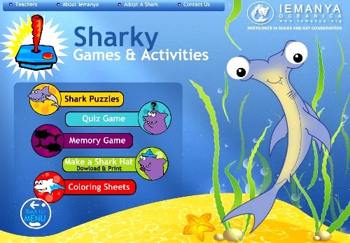 children shark games online
