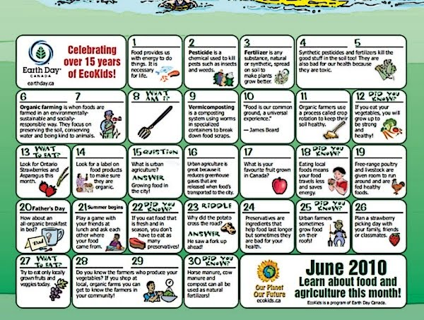 June Calendar Picture Ideas : Besbello tic june ecokids calendar important