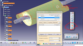 how to make a section view in catia v5
