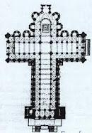 3.- Planta y alzado de la Catedral de Santiago de Compostela.