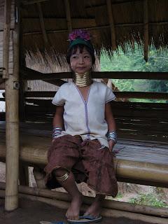 Long Neck woman stammefolk hilltribes Chiang Rai Thailand
