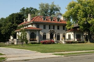 The House Above Was Built In Indian Village Area Of Detroit Probably For A Prominent Auto Industry Executive Notice Symmetry Large Eave
