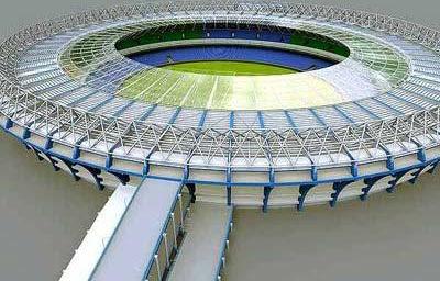 A maquete do novo Maracanã para a Copa de 2014