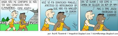 Tira em quadrinhos sobre a convocação da Seleção Brasileira