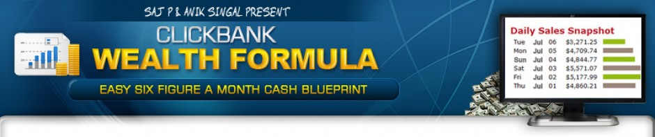 Anik Singal and Saj P – Clickbank Wealth Formula