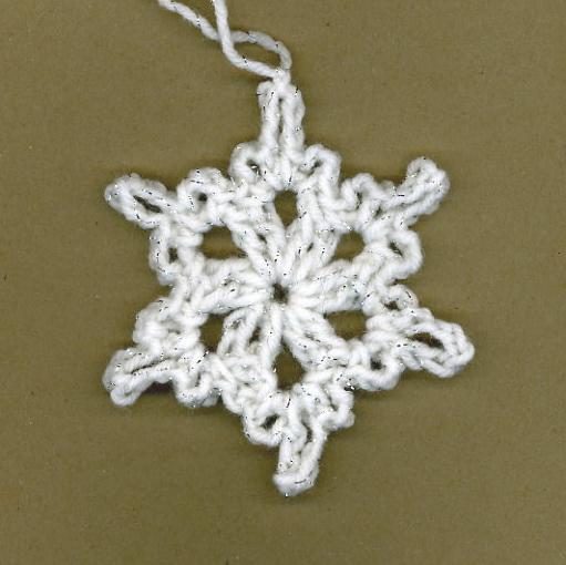 easy crochet snowflake ornament pattern MEMES