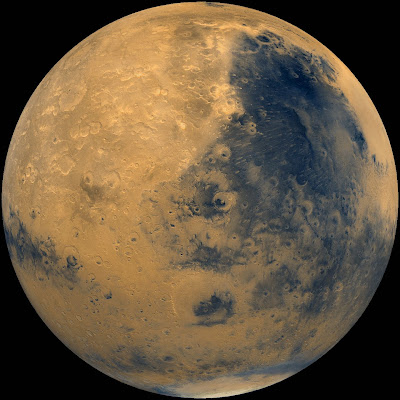 Eastern hemisphere of Mars