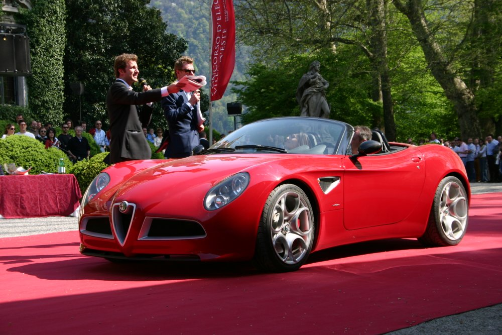 Alfa Romeo 8C Spider powertrain
