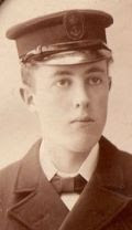 Boy artificer Clive Semmens in his first naval uniform at age 16 in 1905