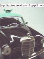 Táxi - Miniaturas: Cartão de visita