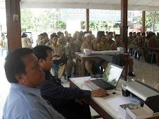 Simulasi di depan Perangkat Desa dari Kab Bangka Tengah