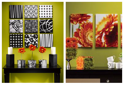 Try Using Multiple Canvases With A Variety Of Different Patterns Like In These Photos From The Michaels Arts And Crafts Website